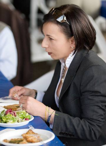 lady in restaurant